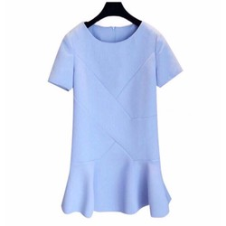 Đầm Form rộng màu xanh nhạt