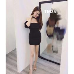 Đầm body bẹt vai bèo