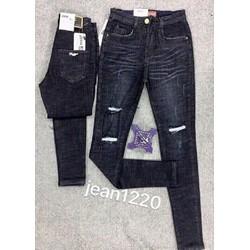 Quần jeans rách form đẹp co giãn