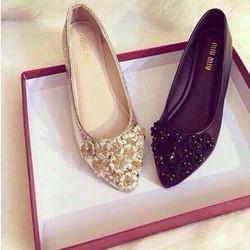 giày búp bê hoa cúc