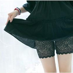 Quần Mặc Trong Váy Ren Phong Cách Hàn Quốc