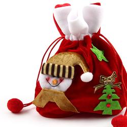 Túi xách nhung đỏ Noel cho bé