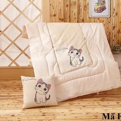 Bộ chăn gối 2 trong 1 hình mèo FS11