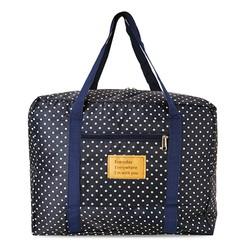 Túi du lịch gấp gọn xinh xắn loại dày chống thấm - bi xanh