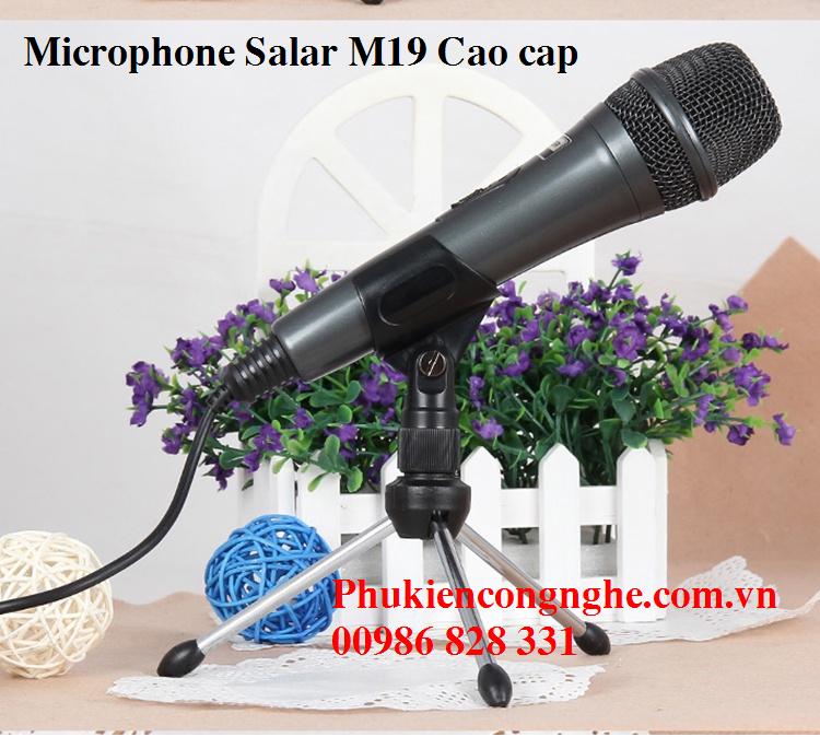Mic Karaoke cao cấp cho Máy tính Điện thoại Salar M19 3