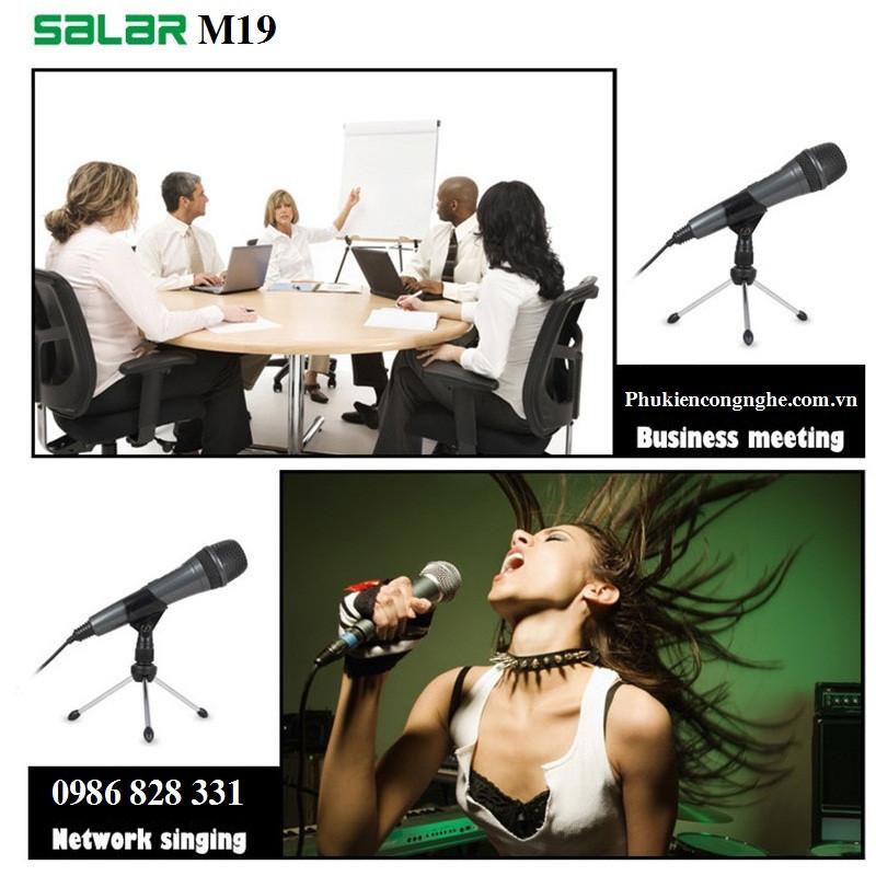 Mic Karaoke cao cấp cho Máy tính Điện thoại Salar M19 1