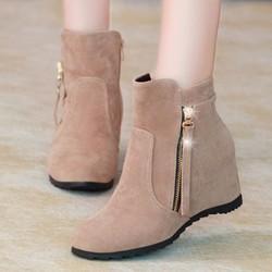 Giày boot nữ nhung cá tính B061X