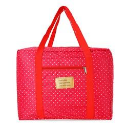 Túi du lịch gấp gọn xinh xắn loại dày chống thấm - bi hồng
