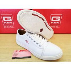 giày da style cực chất trắng đẹp Gken 642