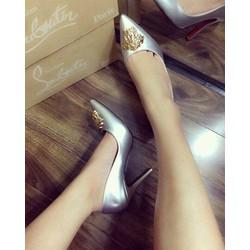 HÀNG NHẬP CAO CẤP - Giày cao gót đính khoá sang trọng