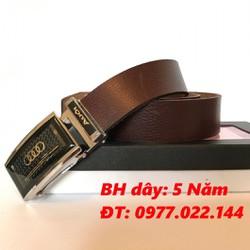 Thắt lưng - Dây nịt Nam da bò cao cấp khóa kéo ND01