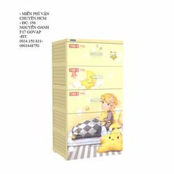 Tủ nhựa Duy Tân TABI S 5 ngăn- Kem em bé