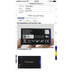 pin blackberry Q10 tặng thẻ giảm giá