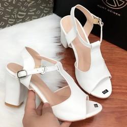 Giày cao gót đế vuông - Hàng Việt Nam