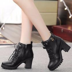 B019D - Giày bốt nữ phong cách Hàn Quốc