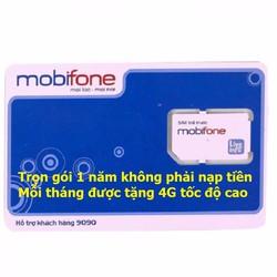 Sim 3G Mobifone 1 năm không nạp tiền, miễn phí 4GB-tháng