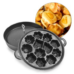 Khuôn làm bánh bông lan chống dính Huỳnh Anh - loại 12 bánh