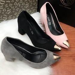 Giày cao gót vuông - Hàng Việt