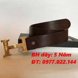Dây nịt Nam da bò cao cấp chữ H ND03