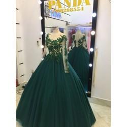 áo cưới xanh ve chai hang đẹp giá mềm rẻ