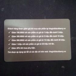 pin blackberry 9500 tặng thẻ giảm giá