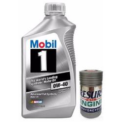 Nhớt Mobil1 tổng hợp 0w40 + Phụ gia phục hồi động cơ Resurs 15gr