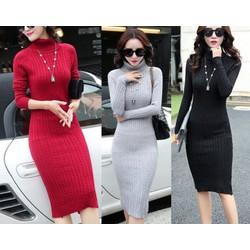Đầm body len sang trọng