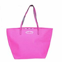 Túi xách kiểu New York hồng cá tính