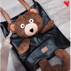 Túi xách gấu bông hàng qc - G01760