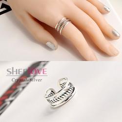 Nhẫn bạc cá tính sang trọng thời trang phong cách Hàn Quốc SPR-K100
