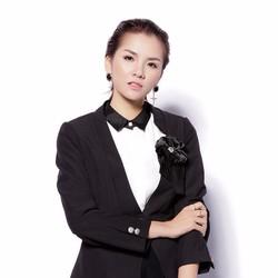 Áo vest thô đen 2 lớp tay dài không cổ hoa ngực