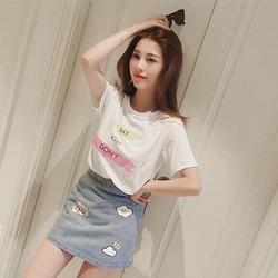 Set áo + chân váy jean