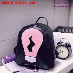 Ba lô mini họa tiết bóng đèn Hàn Quốc trẻ trung cá tính BLDH207
