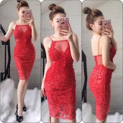 Đầm Yếm Ren Lưới Kim Sa