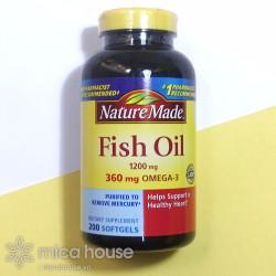DẦU CÁ NATURE MADE FISH OIL 1200MG