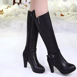 Giày boot nữ cổ cao phong cách hàn quốc B066