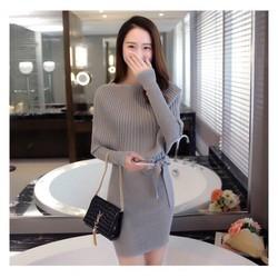 Đầm len dệt kim siêu đẹp mịn KL120T