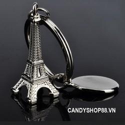 Móc khóa inox tháp Eiffel Paris - combo 2 móc khóa đẹp candyshop88.vn
