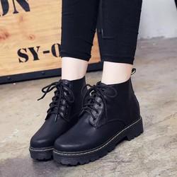 giày boot thắt dây nữ