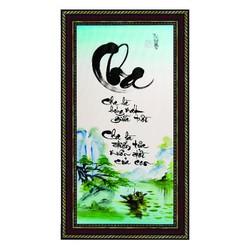 Tranh Trang Trí Thư Pháp Vẽ Tay Chữ Cha