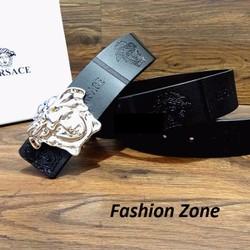 thắt lưng da bản to nam nữ đầu biểu tượng Versace kèm dụng cụ đục lỗ