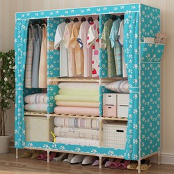 Tủ vải khung gỗ 3 buồng 8 ngăn bền đẹp