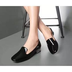 Giày lười nữ chất liệu da bóng mềm đẹp HOT