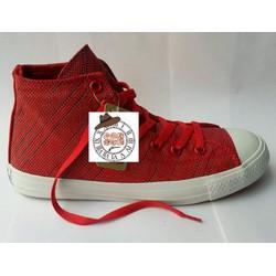 Giày vải Conver Knit đỏ tươi cao cổ 07