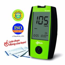 Máy đo đường huyết TD-4267 + Tặng kèm 25 que thử + 25 kim chích máu