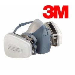 Bộ mặt nạ phòng độc 3M 7502 và 2 phin lọc 3M 6001 - HÀNG CHÍNH HÃNG