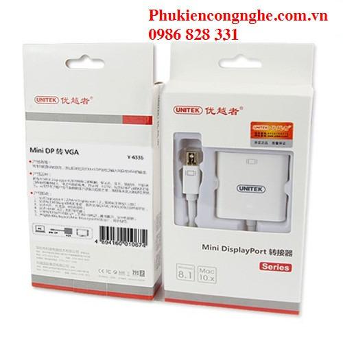 Cáp chuyển đổi Mini Displayport sang VGA chính hãng Unitek Y-6336WH 5