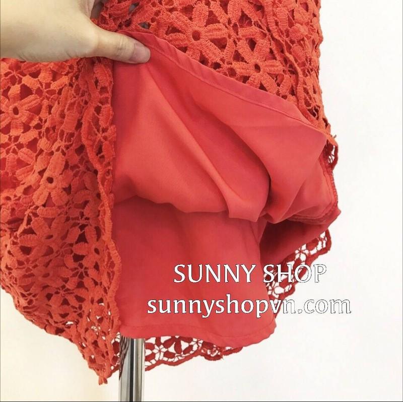 Đầm ren đỏ VNXK xịn 3