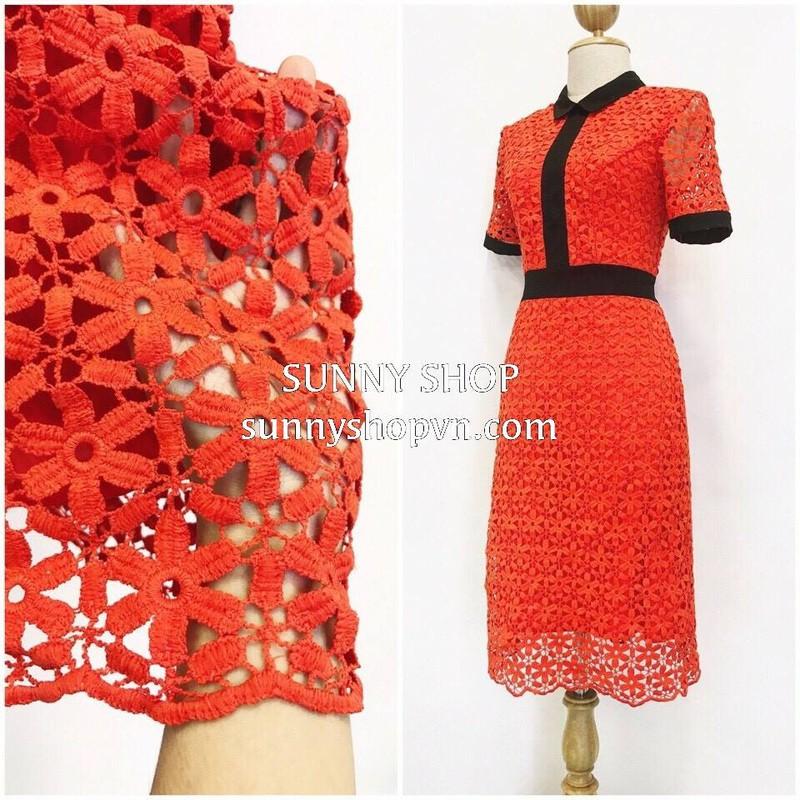 Đầm ren đỏ VNXK xịn 1