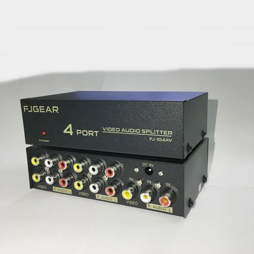 Bộ chia tín hiệu Audio Video 1 vào 4 ra